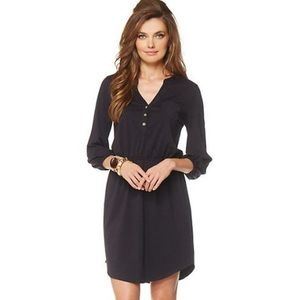 Lilly Pulitzer Beckett Black Shirt Dress XS